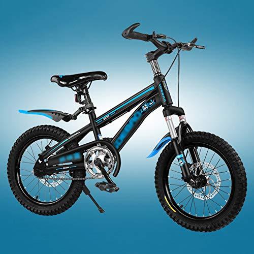 FXPCYGZ Biciclette 18 Pollici Bambini Mountain Bike Bicicletta per Adulti Maschio e Femmina Sci di Fondo Ragazzo Escursionismo Bicicletta Telaio Robusto Installazione Facile Pneumatico(Blue)