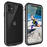 iPhone 11 Case, IP68 Waterproof Anti-Drop, 360°Full Body Underwater Protecting with Clear Built-in Screen Protector, Clear Sound Cover for iPhone 11