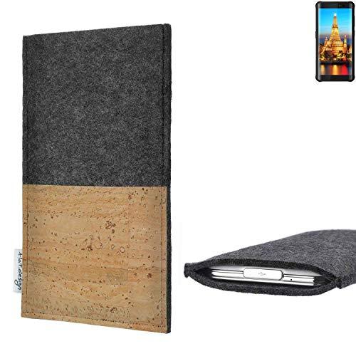 flat.design vegane Handy Hülle Evora für Energizer H590S Kartenfach Kork Schutz Tasche handgemacht fair vegan
