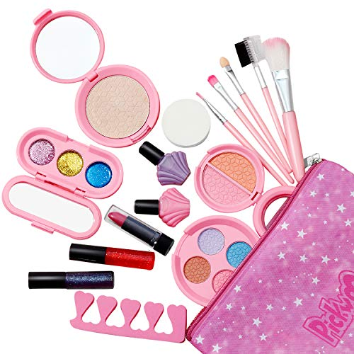 Pickwoo Kinderschminke Set Mädchen Makeup Set für Kinder,17 Stück waschbar sicher ungiftig echt...