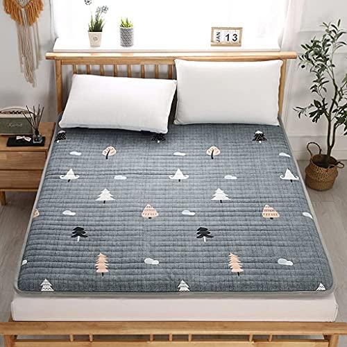Colchones Colchón de piso plegable, colchón de futón acolchado lleno de japonés, cama nido japonesa, estera suave para dormir, tapete de tatami, colchón de rollo para dormitorios de estudiantes Textil