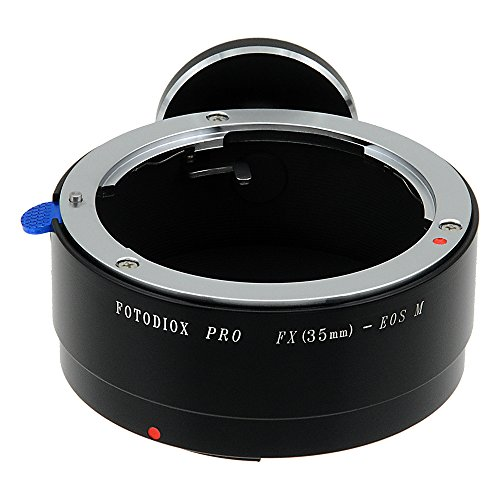 Fotodiox Pro - Adaptador de Montura de Objetivo Fuji Fujica X-Mount de 35 mm (FX35) a Canon EOS M (EF-M) Cuerpo de cámara sin Espejo
