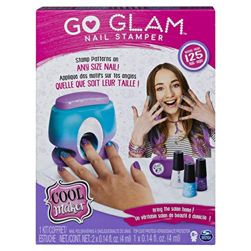 Image of the Cool Maker, GO Glam Nail Stamper, Nail Studio with 5 Patterns to Decorate 125 Nails (Packaging May Vary), Multicolor