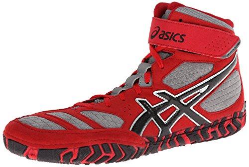 Asics - Aggressor para Hombre, Color Negro y Plateado (2 m), Rojo (Rouge Feu Noir Graphite), 44.5 EU
