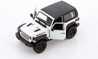 Showcasts 2018 Jeep Wrangler Rubicon Hard Top, White - Kinsmart 5412DK/WT - 1/34 Scale Diecast Model Toy Car