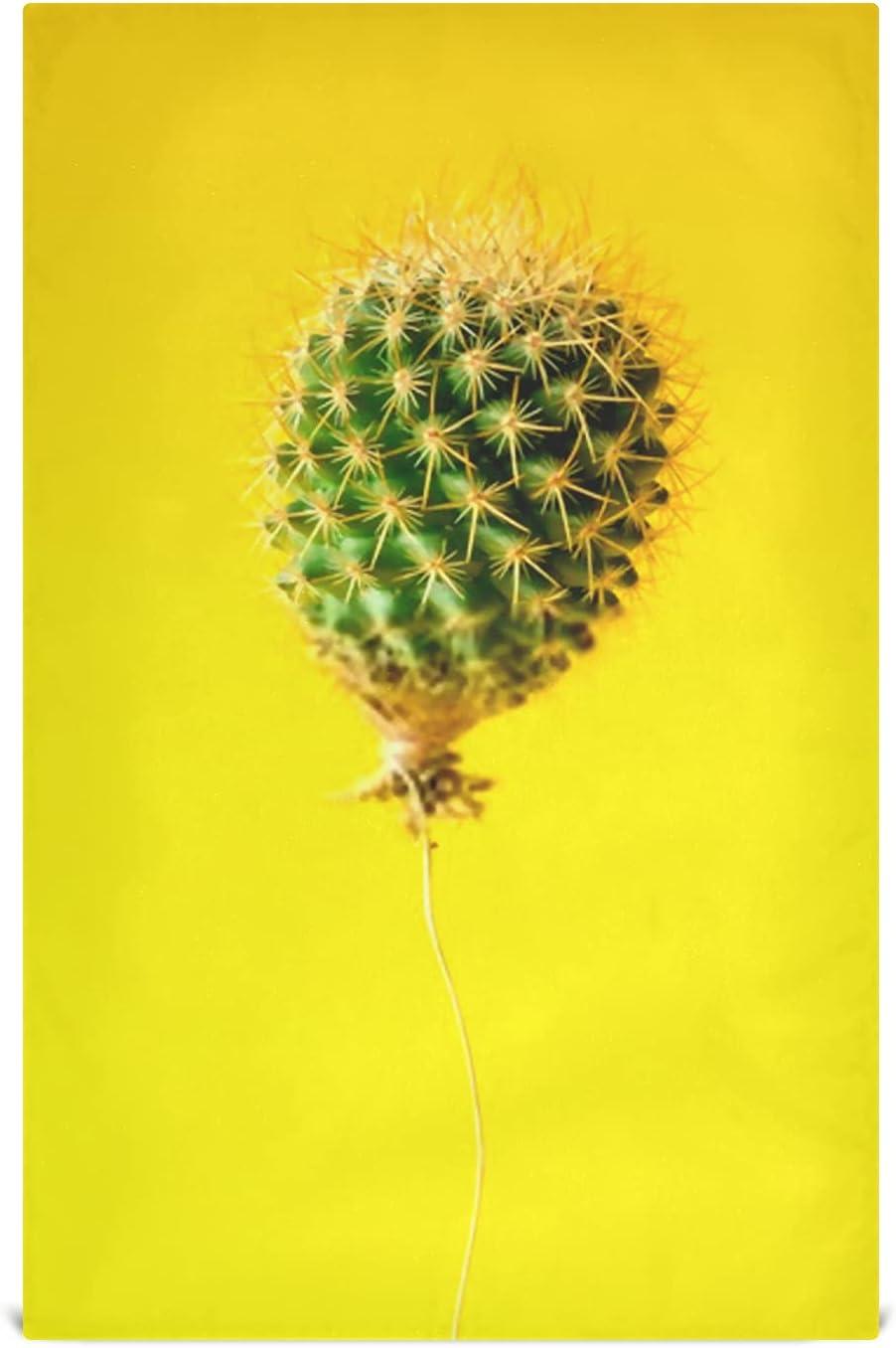 JIUCHUAN Oklahoma City Mall Kitchen Dish Towel Set 6 Cactus On Balloon Yello Courier shipping free Bright