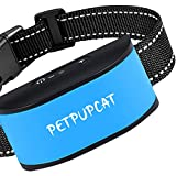PetPupCat Rechargeable Dog Bark Collar  No Shock Puppy Collar w/7 Vibration & Beep Modes   100% Waterproof Anti Bark Dog Collar for Small Medium and Large Dogs   Automatic Adjustable Without Remote