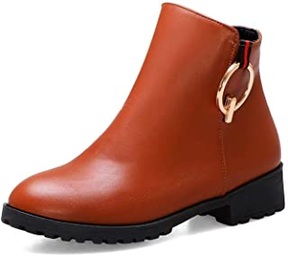 BalaMasa Womens ABS13923 Leather Boots