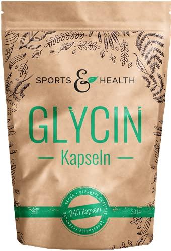 Glycin Kapseln - 1200mg pro Tagesdosierung - 240 Kapseln - Vegan - LABORGEPRÜFT - Qualität Der Glycin Kapseln In Deutschland Geprüft – Glycine