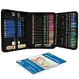 Lápices ColorateSketch Color Lead Set Pintura sobre Madera Color 93pcs Kit para Lápices Artisticos Material Escolar Profesional de Borrador Paint BrushSketchDrawing Supplies