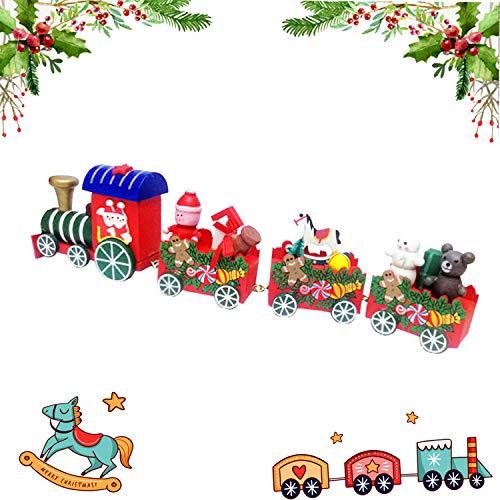 Scopri offerta per Guizu Treno di Natale in Legno Carino ?Mini Trenini ?Decorazioni Natalizie?Festa di Natale del Decorativo?per Bambini Giocattoli Piccoli Treno Bambini Scuola Materna Regalo Festivo
