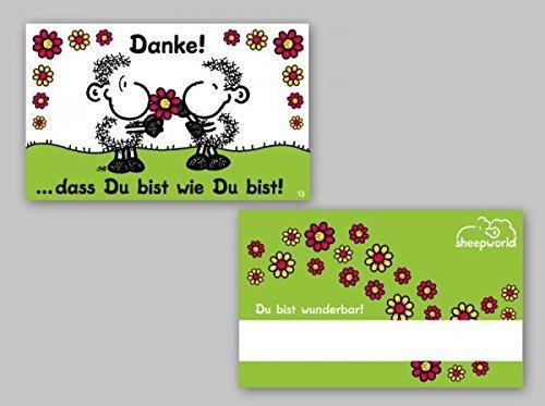 Sheepworld - 57171 - Pocketcard, Danke! ...DASS Du bist wie Du bist!, PVC