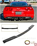 Replacement for 2005-2013 Chevrolet Corvette C6 All Models | ZR1 Extended Style ABS Plastic Painted Matte Black Rear Trunk Lid Wing Spoiler (ABS Plastic - Matte Black)