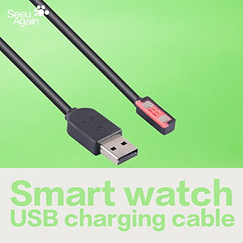 USB Charger Charging Cradle Dock Data Charge Cable Cord Wire Clip Replacement for Pebble Steel Smart Watch