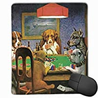 ポーカーをしている犬 マウスパッド ゲーミングマウスパッド ラップトップマット pcマウスパッド リストレスト ラバーマット 滑り止め 耐久性 高級感 25*30