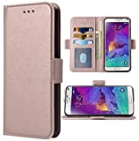 Phone Case for Samsung Galaxy Note 4 Folio Flip Wallet Case,PU Leather Credit Card Holder Slots Full Body Protection Kickstand Protective Phone Cover for Glaxay Note4 SM N910A N910F SM-N910F Women