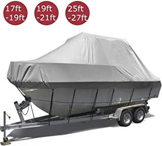17-27ft Funda para Barco, Cubierta del Barco Tela Oxford 420D Impermeable Y Resistente A La Rotura para Bote De Bass Bass Boat Etc