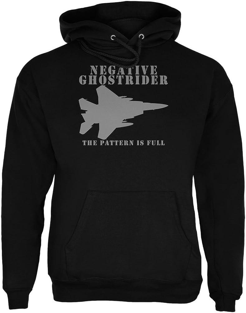 Old Glory Negative Ghostrider Pattern Trust Adult Full Black is Deluxe Hoodie