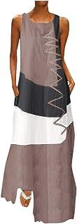 Vestidos Largos Casual Talla Grandes Verano Vestidos de Playa Boho Elegantes Vestidos Manga Corta con Cuello en V Fiesta Ropa Hippie Chic Cocktail Sexy Midi Dresses