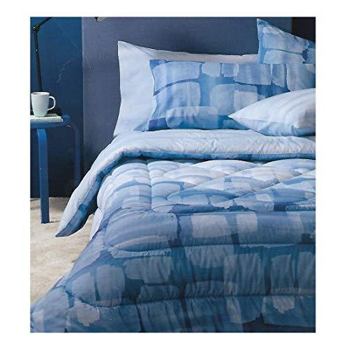 Bassetti - Colcha individual Overlay 170 x 260 cm, color azul