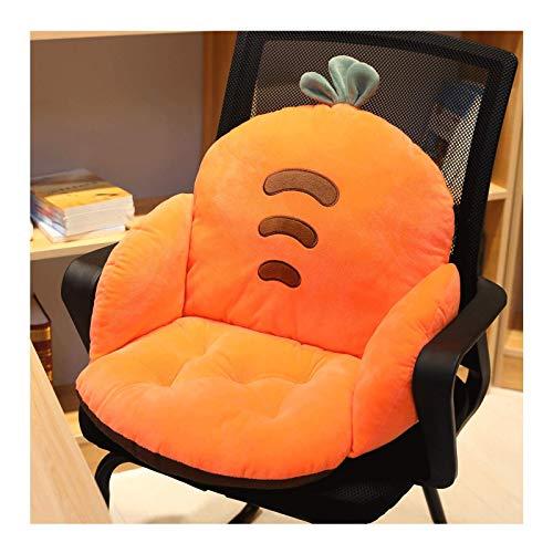 ZXYY Stuhl Sitzkissen Rückenstütze rutschfeste Halbgeschlossene Sofa Stuhlkissen Sitzkissen Weiches Plüsch Bequemes StuhlkissenCartoon Stuhlkissen Bürokissen,A-35x35x55cm