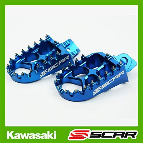 SCAR Repose cale pied Evolution Compatible avec KAWASAKI KX 65 85 98-21 - Bleu