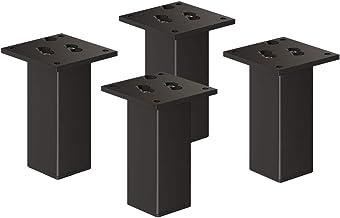 sossai® Exklusiv - Aluminium meubelpoten | E4MF-N | Set van 4 | Hoogte: 150 mm | Kleur: zwart