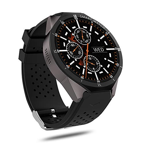 XIYAN Smartwatch, mit ganztägigem Herzfrequenz- und Aktivitäts-Tracking-GPS, Bluetooth-Smart-Watch-Touchscreen mit Kamera, Unlocked Watch Phone mit SIM-Kartensteckplatz