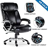 ComHoma High Back Office Chair Big and Tall 400 lb Executive Computer Desk Chair, Thick Padding for Comfort and Ergonomic Design for Lumbar Support,