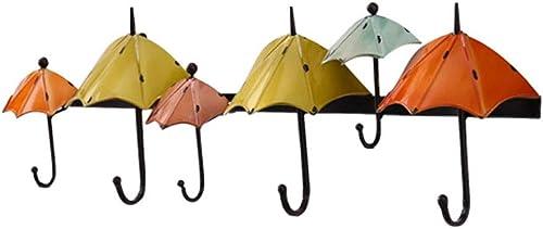 LLYDIAN Type de Parapluie MultiCouleure créatif Crochet Crochet Porte-clés Crochet Mural Crochet Cintre (6 Crochets) (Couleur   Couleur mixing1)