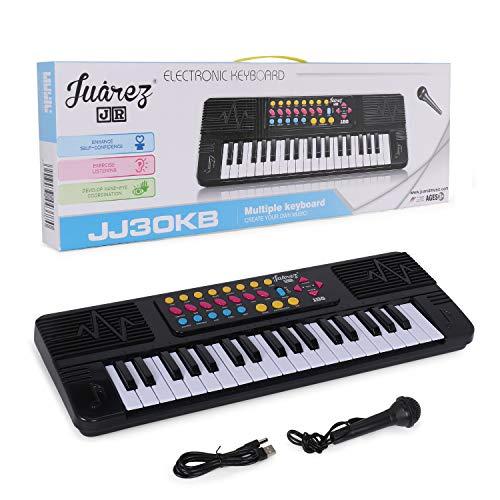 JUAREZ Junior 37 KEYS Multi-function Electronic Keyboard Piano for Kids, Black