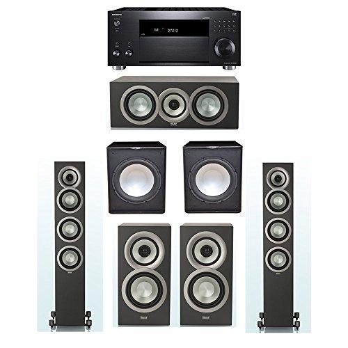 Best Review Of ELAC Uni-Fi Slim Black 5.2 System with 2 ELAC FS-U5 Floorstanding Speakers, 1 CC-U5 C...
