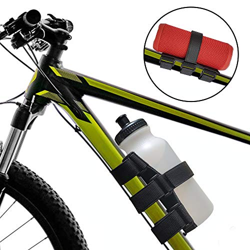 TOOVREN Bike Cup Holder Upgraded Speaker Mount Portable Bicycle Water Bottle Holder Bluetooth Speaker Mount Adjustable Bike Strap for Bottle Anker JBL Charge Doss and Most Wireless Speaker