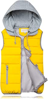 XFentech Women Winter Gilet - Hooded Full Zipper Tops Sleeveless Down Jacket Coat Vest Outwear with Pocket