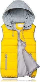BOZEVON Women Winter Gilet - Hooded Full Zipper Tops Sleeveless Down Jacket Coat Vest Outwear with Pocket