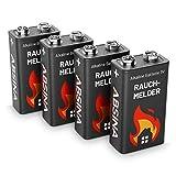 9V Batterien - Mit besonderer Langlebigkeit, zuverlässiger Leistung und maximaler Kapazität sorgen die 9V Rauchmelder Batteries dafür, dass Ihr Feuermelder im Ernstfall funktioniert LANGLEBIG - Die hochwertige Alkaline 9 Volt Block Battery hat mehr P...