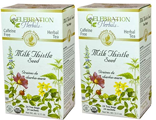 Celebration Herbals Milk Thistle Seed Herbal Tea -- 48 Tea Bags (2 packs of 24)