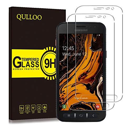 QULLOO Panzerglas für Samsung Galaxy Xcover 4S / 4, Panzerglas Schutzfolie 9H Hartglas HD Displayschutzfolie Anti-Kratzen Panzerglasfolie Handy Glas Folie für Galaxy Xcover 4S / 4