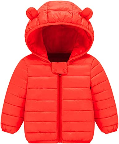 TheRang Boys Girl Winter Coats Jacket Kids ZipThick Ears Snow Hoodie Clothes