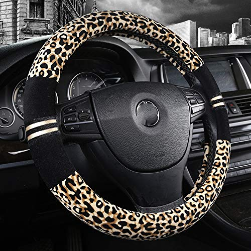 9. Fuzzy Cheetah Steering Wheel Cover