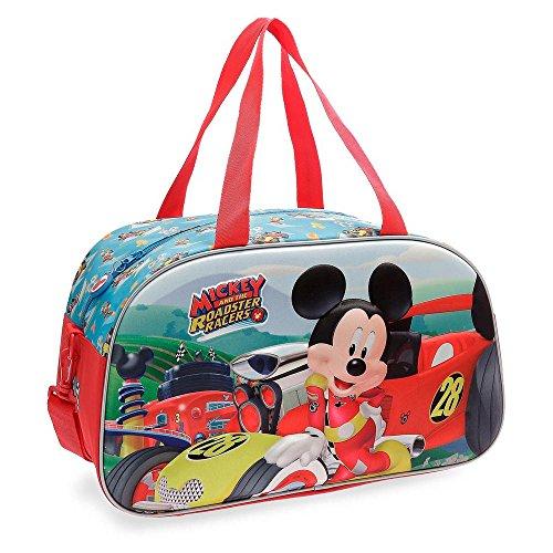 Bolsa de viaje Mickey Roadster Racers 44cm frontal 3D