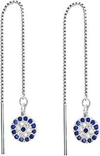 FarryDream 925 Sterling Silver Dangle Earrings for Women Teen Girls Long Threader Earrings Chain