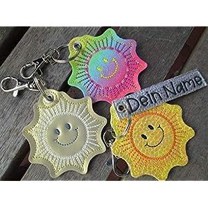 SONNENSCHEIN Sonne mit Namen oder Spruch personalisierbar Schlüsselanhänger Taschenanhänger tolles kleines Geschenk f…