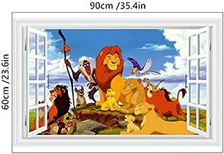 Rey león 3D Pegatinas de pared Calcomanías Decoración Habitación para niños Póster Papel tapiz Mural decoración para habitación de niños