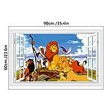 Löwe cartoon wandaufkleber der könig der tiere