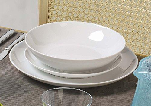 Kaleidos - Service d'assiettes en porcelaine 18 pièces SKANDIA (13181)
