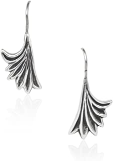 Mignon Faget Acanthus Dangle Earrings Sterling Silver with 14K Gold Wire