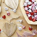 HERSHEY'S KISSES Chocolate Christmas Candy, Pink Foils, Milk Chocolate, 4.1lb Bulk Candy