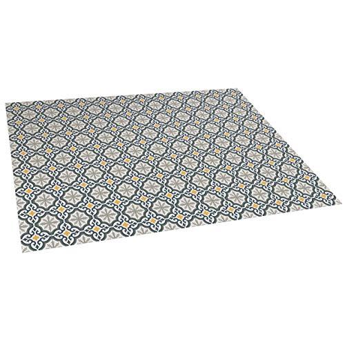 STORESDECO - Alfombra Vinílica Mosaico, Alfombra de Vinilo Acolchada, Lavable y Antideslizante. Es una Alfombra Ideal para Cocina, Salón, Dormitorios… | Color Flor, 90 cm x 250 cm