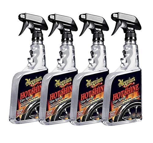 MEGUIAR'S G12024 Hot Shine Tire Spray, 24 oz, Pack of 4